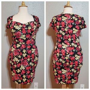 MODCLOTH Floral Pencil Dress